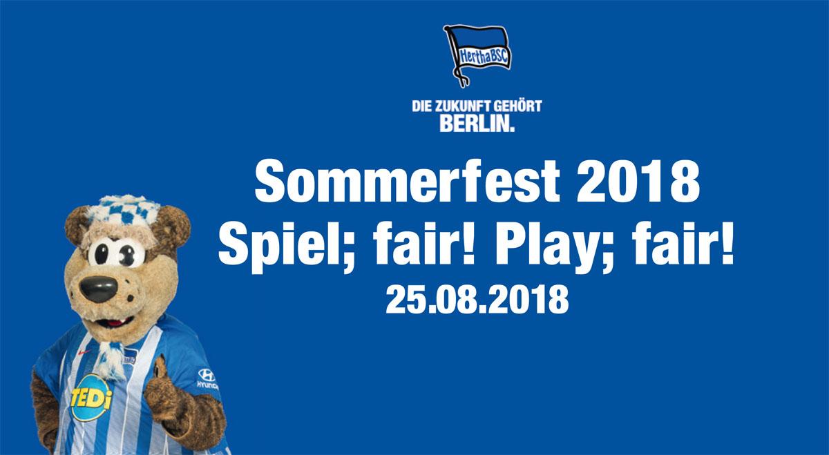Sommerfest 2018 Spiel; fair! Play; fair!