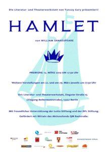 Poster Premiere Hamlet (15.03.2019)