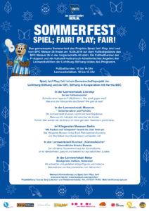 Poster des Sommerfestes Spiel;FAIR! 2019